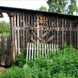 Сарай для хранения дров. Красота… Д. Малая Серва